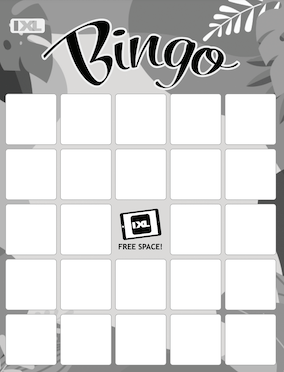 IXL Black and White Summer Bingo Blank PDF