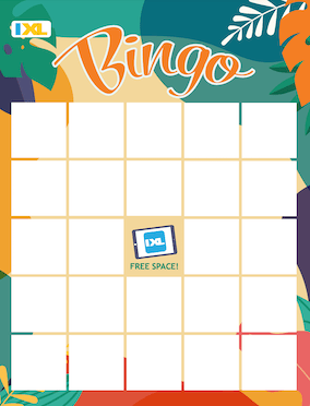 IXL Colorful Summer Bingo Blank PDF