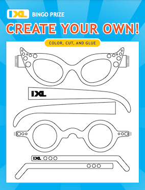 Create Your Own Sunglasses PDF