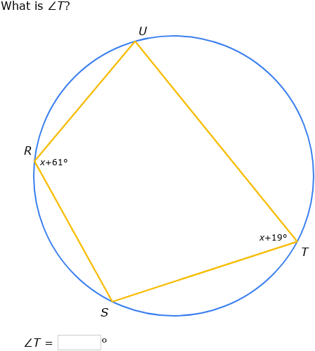 IXL - Angles in inscribed quadrilaterals (Grade 11 maths ...